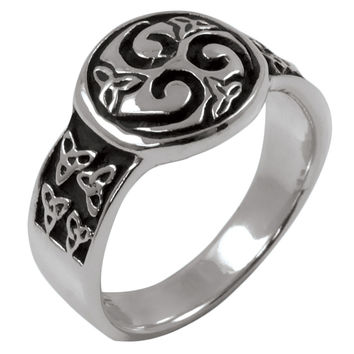 Triple Spiral .925 Sterling Silver Ring