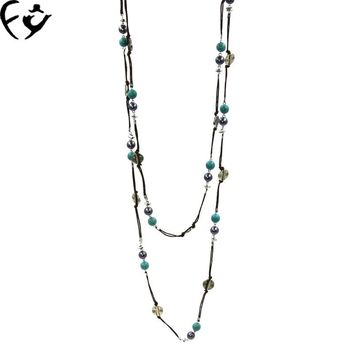 The new long paragraph of the original national wind handmade jewelry retro Necklace