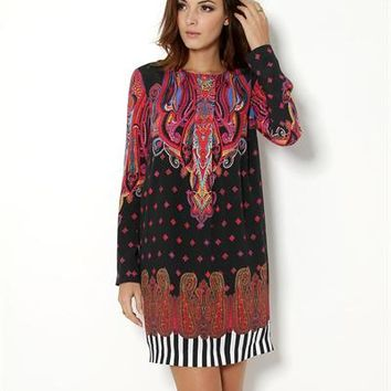 Class Roberto Cavalli Pleated Print Tunic - Made in Europe