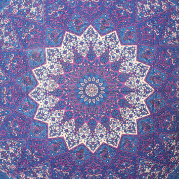Queen Purple star tapestry beautiful Elephant tapestry Psychedelic Tapestries hippie tapestries Meditation Wall tapestry Yoga Wall art Dorm