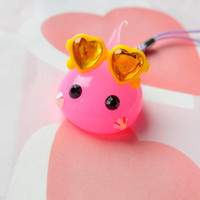 Sunglasses Pink Hoppe Chan Squishy Charm, Soft Dolls, Cute Phone Charm, Kawaii Dust Plug Charm, Kawaii Keychain, Silicone Charm, Cute Gift