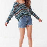 UO Sasha Striped Cropped Sweater | Urban Outfitters