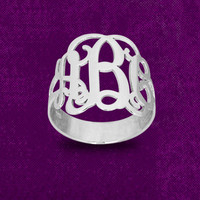 Monogram,monogramed gift,ring, Personalized initial ring,Mother ring, Christmas Gift, Birthday Gift