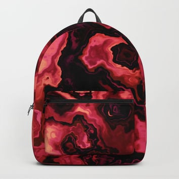 MELON & BEED RED MARBLED GEODE Backpacks by Pia Schneider