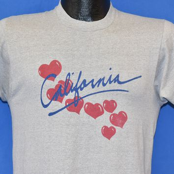 80s California Hearts Tourist t-shirt Small