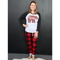 Red and Black Buffalo Plaid Joggers
