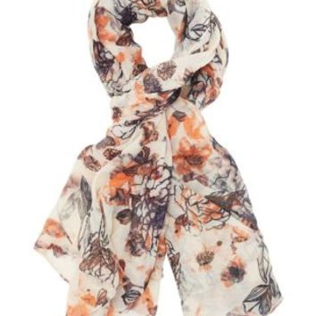 Rose Combo Floral Oblong Scarf by Charlotte Russe