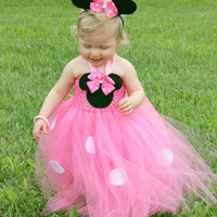Minnie mouse inspired tutu dress and headband size newborn to 9years