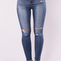 Get Even Skinny Jeans - Dark Denim