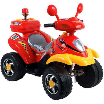 Lil' Rider 360 Battery Operated 4 Wheeler - Red-Yellow
