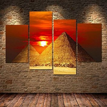 Fashion Wall artwork decor painting print Egyptian Pyramids on canvas home decor canvas painting for living room bedroom home of