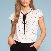 Swiss Connection Tie-Front Top - White