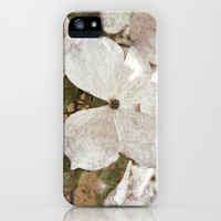 Vintage White Flowering Dogwood iPhone & iPod Case by Brooke Ryan Photography