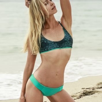 Kai Cross Back Bikini Top (Lunar Mandala + Aqua Combination)