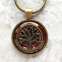 tree of life keychain: rust - mens keychain - irish keychain - mens keyring - tree keychain - boyfriend gift - fathers day - spiritual