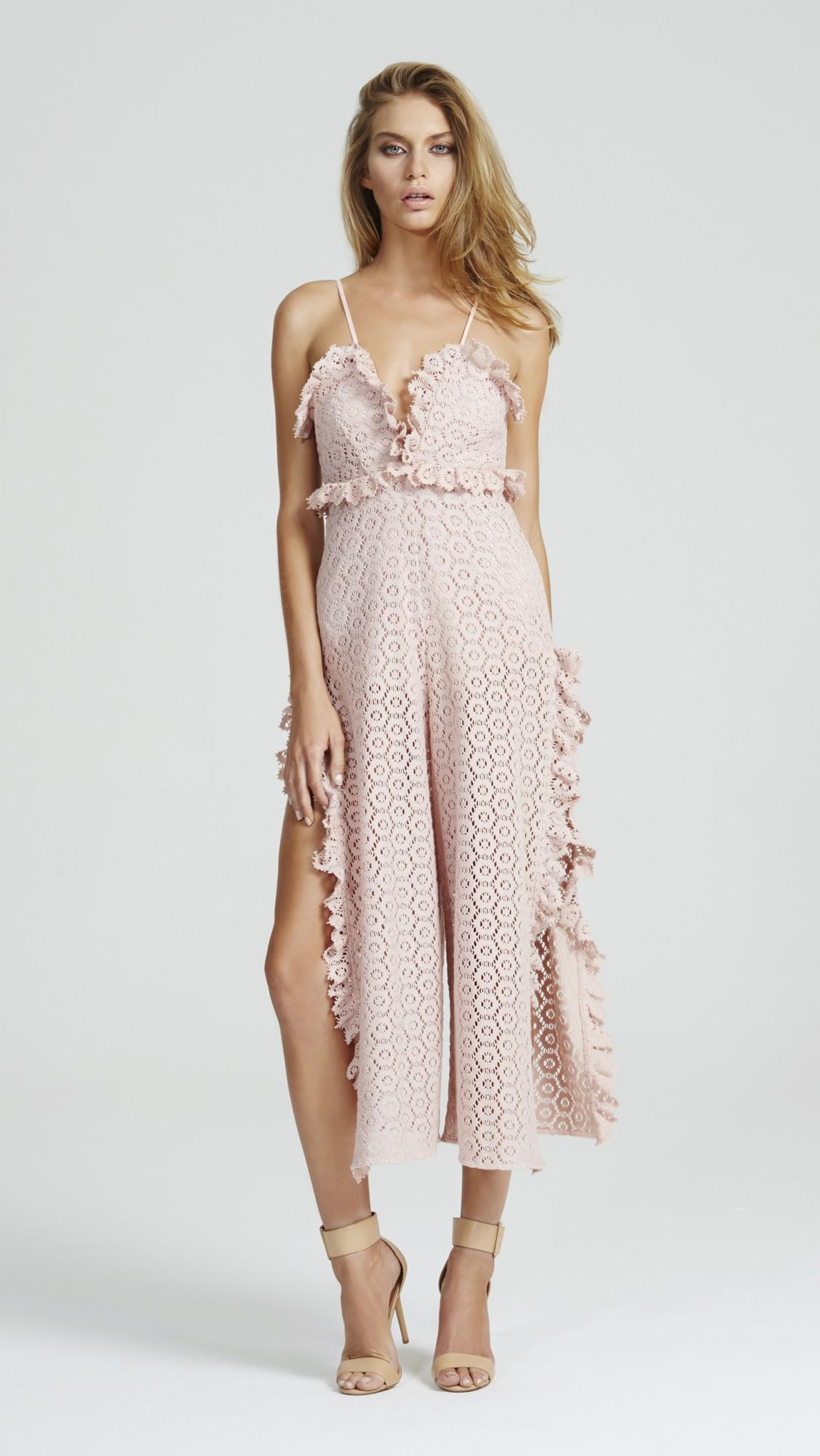 6788d30d31 I WON T MIND JUMPSUIT BLUSH from Alice McCall
