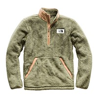 Men's Campshire Sherpa Fleece Pullover in Four Leaf Clover & Cargo Khaki by The North Face - FINAL SALE