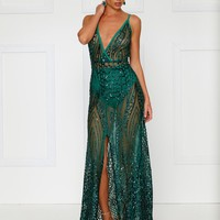 Cristal Gown - Emerald
