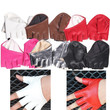 Cool Woman'sTight Half Palm and Finger Gloves Imitation Leather Multicolor