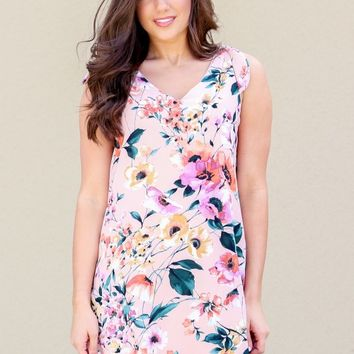 New Spring Dress in Peach | Monday Dress Boutique