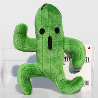 1Pcs Final Fantasy Cactus Cactuar Plush Toy Green Plant Stuffed Soft Dolls With Tag Christmas Gift 24cm Approx