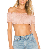 by the way. Ellie Ruffle Crop Top in Blush | REVOLVE