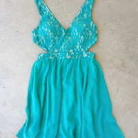 Lace & Teal Party Dress [7112] - $42.00 : Feminine, Bohemian, & Vintage Inspired Clothing at Affordable Prices, deloom