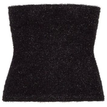 Fuzzy Logic Black Tube Top