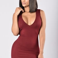 Amethyst Dress - Burgundy