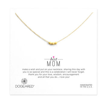 best mom stardust bead necklace, gold dipped, 16 inch - Dogeared