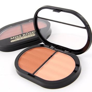 Miss rose sweet light skin blush blush 4 color fence makeup box rouge [11600067020]