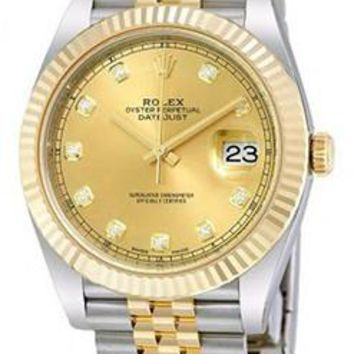 Rolex - Datejust 41mm - Stainless Steel and Yellow Gold - Fluted Bezel