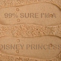 99% Sure I'm a Disney Princess Custom Sand Imprint Flip Flops