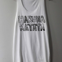 HAKUNA MATATA Shirt The Lion King Shirts Tank Top Tunic TShirt T Shirt Singlet - Size S M L