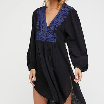 Higher Ground Maxi Embroidered Top