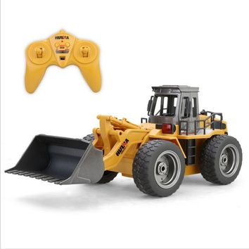 Alloy Bulldozer RC Simulation Pushdozer Engineering Forklift Construction Model