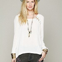Free People  Lace Up Back Top at Free People Clothing Boutique