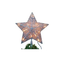 Lighted Star Tree Topper with 15 Lights - 13-1/2-in