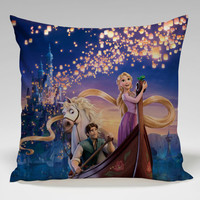 tangled rapunzel all character Square Pillow Case Custom Zippered Pillow Case one side and two side