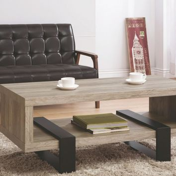Zorah Gray Coffee Table From Coaster | Coleman Furniture