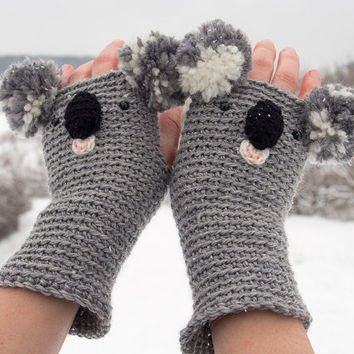 KOALA FINGERLESS GLOVES - Free Shipping Worldwide