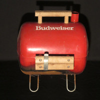 Vintage Budweiser Mini Portable Grill - Awesome