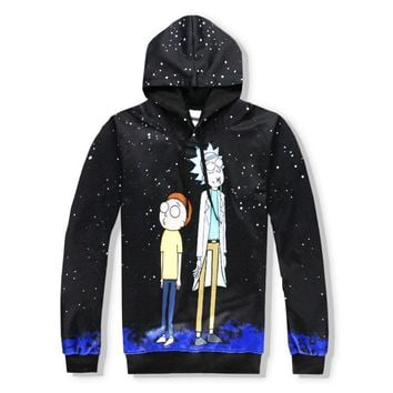 Rick And Morty 3D Print Sweatshirts Pullover Hoodies Colorful Tracksuit Hooded Tops Pants Sportwear Outfit
