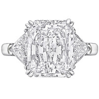 Graff 5.02 Carat GIA Cert Radiant-Cut Diamond Engagement Ring