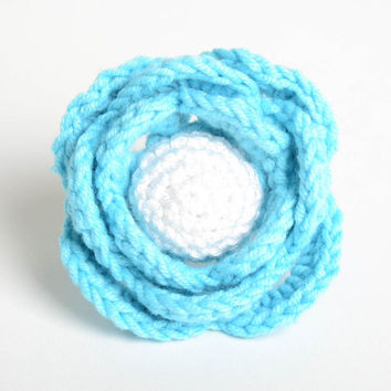 Beautiful handmade crochet scrunchie hair tie flowers in hair gifts for her