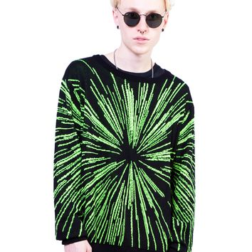 "Men's ""Lightspeed"" Knit Sweater by 24HRS Clothing (Black)"