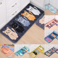 1pcs Cat Rabbit Dog Flower Pattern Anti-Slip Carpet Door mats doormats Outdoor Kithchen Bathroom Living room Floor Mat Rug 48127