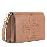 Tory Burch Bombe T Combo Leather Cross Body Bag Women's Leather Handbag