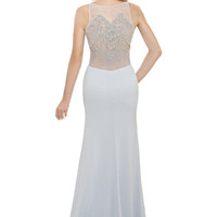 Eleni Elias P445 Informal Illusion Back Bridal Wedding Dress or Mother of the Bride