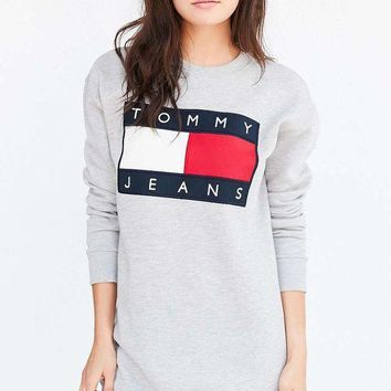 VONE058 Tommy Hilfiger women 90's Sweatshirt Mini Dress